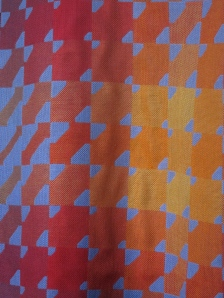 Double cloth fabric design by Jack Lenor Larsen around 1980.